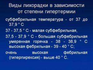 Субфебральная температура