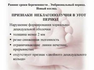 Беременность на ранних сроках