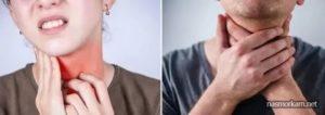 Боль в области горла при глотании, но простуды нет и само горло не болит