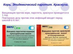 Вакцина корь-краснуха-паротит