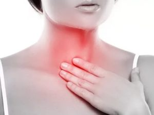 Нарушения дыхания, тяжесть и боль в груди, першение в горле