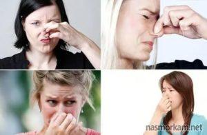 Неприятный запах после чихания