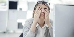 Головная боль, ухудшение зрения