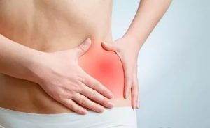 Боли в области низу живота также боль в области почек