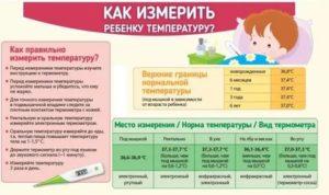 Какая в норме температура у шести месячного ребенка?