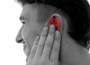 Глухой шум в ухе, заложенность носа в горизонтальном положении