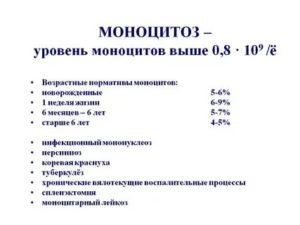 Повышены моноциты в крови
