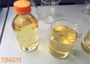 Жидкость желтого цвета