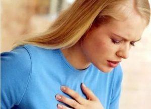 Кружится голова, тяжело дышать и боль в груди