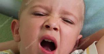 Глубокий вдох и зевание у ребенка