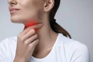 Боль при глотании, сухой редкий кашель