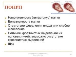Выделения при гипертонусе матки